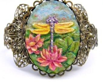 Dragonfly Cuff Bracelet, Dragonfly Jewelry
