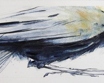 Blue Strokes - ORIGINAL WATERCOLOR