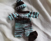 10 inch handknit doll outfits