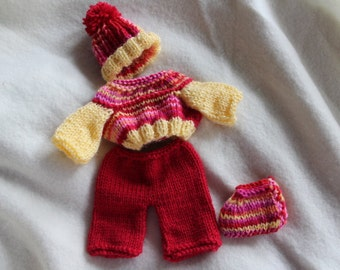 10 inch handknit doll clothes