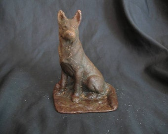 Vintage Cast Iron Dog Figurine