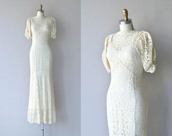 Maeve lace wedding dress | vintage 1930s wedding dress • lace 30s dress