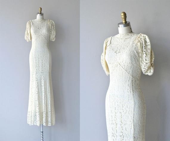 1930s Wedding Gowns: Maeve Lace Wedding Dress Vintage 1930s Wedding Dress Lace
