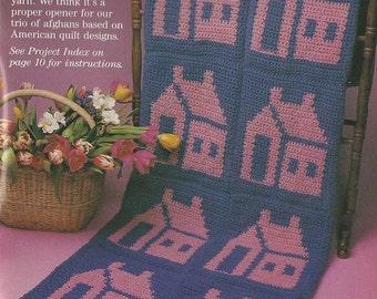 Schoolhouse Afghan Crochet Pattern