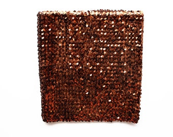 Brown Sequin Tube Top
