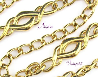 Napier Necklace Gold tone Curb Chain 30 inch