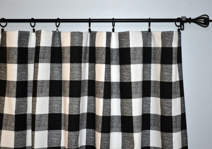 Pair Of Buffalo Check Curtain Panels By Beeyourselfdesigns