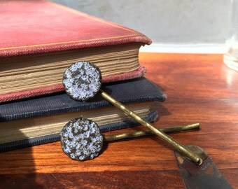 Purple meteor hair pins