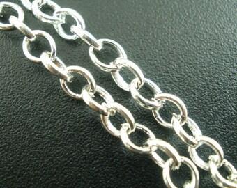 BULK - Silver Plated Link Chain - 12 feet - #CH02480