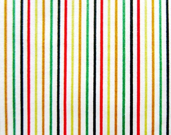 FREE SHIPPING Rainbow Stripes Fabric - Japanese Cotton Fabric (F028)- Fat Quarter