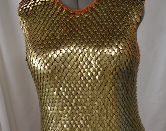 Armor Shirt in Knitted Dragonhide Scalemail Tunic Medieval costume