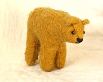 On Sale!hopeful little Gold standing bear