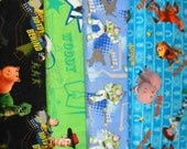 TOY STORY #3 fabrics, sold individually,not as a group, sold by the Half Yard, please see body of listing
