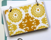 4 x 6 Index Card or Note Card Binder, Suzani Yellow