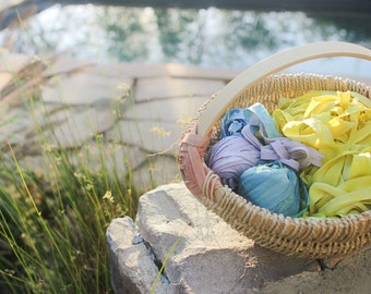 Plant-Dyed Silk Ribbons