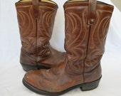 Vintage MASON Steel Toe Cowboy Boots Chippewa Falls Wisconsin 10 1/2 d union made usa
