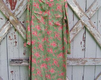 Vintage Leslie Fay LFIII silk shift dress M L