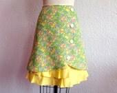 Melanie linen ruffle front skirt Sz 8