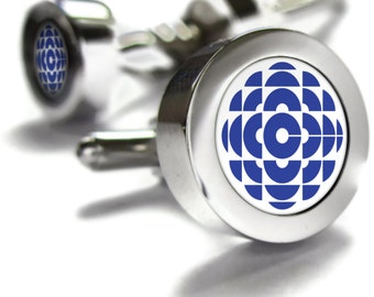 CBC Retro 80s Cufflinks - fathers day gift ideas, Canada themed gifts, retro gifts, broadcast, Canadian gifts, Canadian Cuff links, dad gift