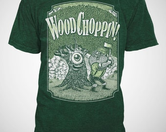 Wood Choppin - Lumberjack T-shirt - Forest Green