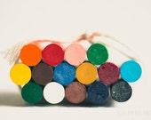 crayon photograph, rainbow colors, nursery wall art, playroom decor, unisex kids room decor, crayon art, home decor