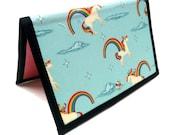 Knitting Crochet Pattern Holder - miPattern Wallet Chart Keeper - Unicorns & Rainbows