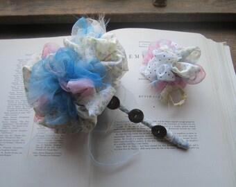 Fabric Wedding Bouquet * Vintage Fabric Bouquet * Vintage Fabric Bridal pom * Handmade Celebration Bouquets