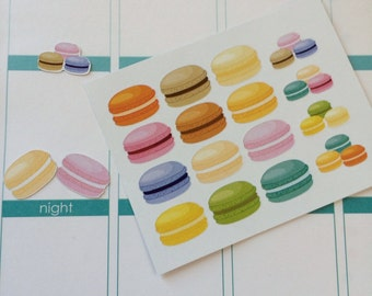 Macaroons Stickers Perfect for Erin Condren Life Planner Plum Paper Planner & Other Planners