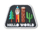 Hello World Iron On Patch