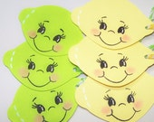 Lemon, Lime, Citrus, Fruit, Tart, Tangy, Lemonade, Limeade, Refreshing, Yellow, Green, Party Favors, Party Decor, Favor Tags, Gift Tags