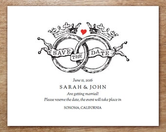 E by empapers on etsy for Free online wedding save the date templates
