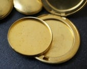 SALE Brass Dish Inserts for Perfume or Cream For Round Brass Lockets - various sizes  - 3 pieces