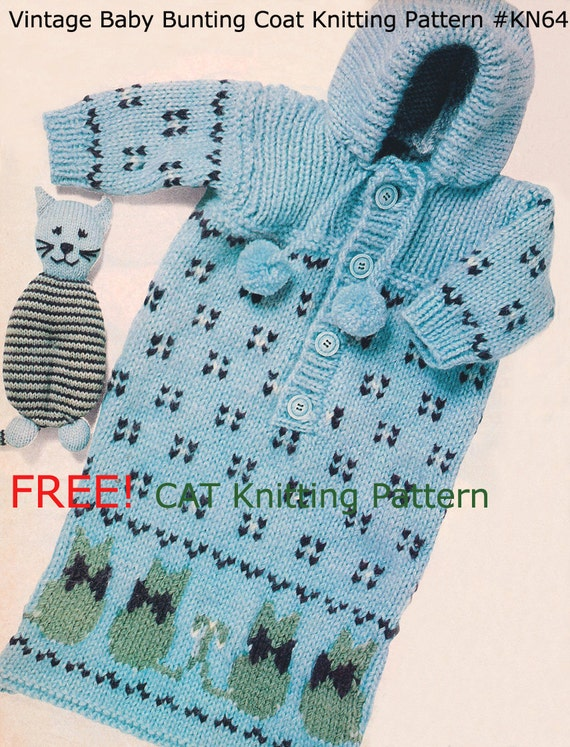 Free Baby Bunting Knitting Patterns : Bunting Baby Coat Baby Bunting Free Cat Toy Knitting Pattern