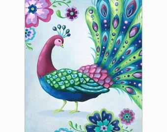 Peacock 2 Art Print 8 X 10