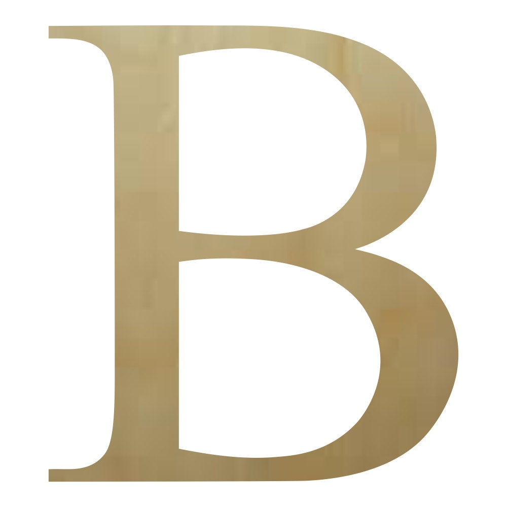 Wooden Greek Letter Beta B Paintable