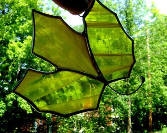 Stained Glass Maple Leaf Canadian Maple Suncatcher Autumn Fall Colored Leaves Halloween Decorations Thanksgiving