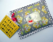 I Spy Bag  - Wipeable, Personalized, ABCs and Colors - Gray Lotus Flowers