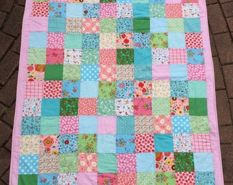 New Baby Toddler Girl Crib Quilt Blanket Nursery Decor Gift