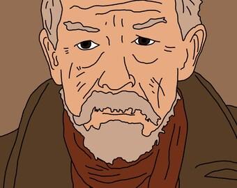 Doctor Who (John Hurt, the War Doctor) Mini Art Print
