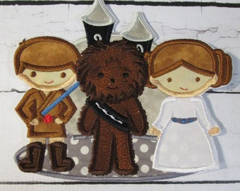 Star Wars Trio - Iron On or Sew On Embroidered Custom Made Applique