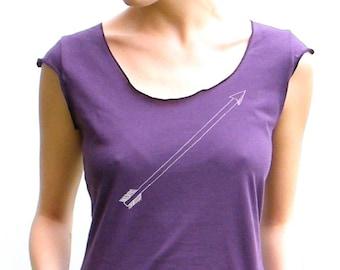Ladies Top - Arrow Design - American Apparel Ladies Scoop Tee - Small, Medium, Large, XL