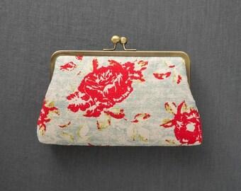 SALE | Vintage Floral Clutch | Bridesmaid Clutch | Retro Floral Clutch | Monogram Clutch [Lola Clutch]