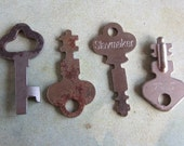 Vintage Antique keys -  Steampunk - Altered art w07