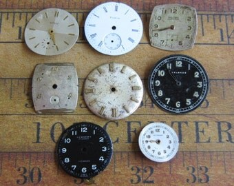 Vintage Antique Watch  Assortment Faces - Steampunk - Scrapbooking f8