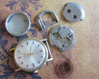 Steampunk Destash - Vintage WATCH PARTS gears - Steampunk parts - o71 Listing is for all the watch parts seen in photos
