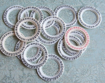 Vintage  Watch parts number date rings- Steampunk - Scrapbooking j9