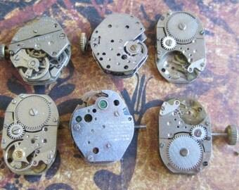 Steampunk watch parts - Vintage Antique Watch movements Steampunk - Scrapbooking u77
