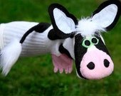 Bovine Beauty Handmade, Couture Cow Puppet
