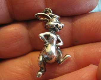 Disney Rabbit Vintage Sterling Charm