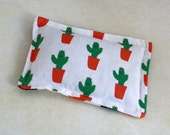 Hot and Cold Pack - Heat Therapy Pad - Cactus Man - Organic Cotton - Microwave Heat Therapy Pack